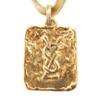 ヴィンテージ グラディーノアール ロゴプレート ネックレス ゴールド