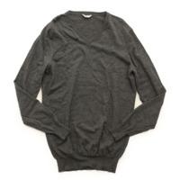 メンズ ウール ニット セーター 330386 グレー