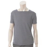 メンズ ボーダー バスクシャツ Tシャツ 343740 ネイビー×ホワイト M
