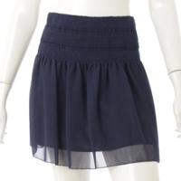 ギャザー スカート ネイビー 34