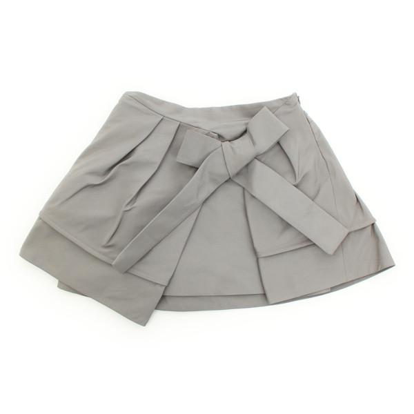 キッズ 子供服 リボン スカート グレー