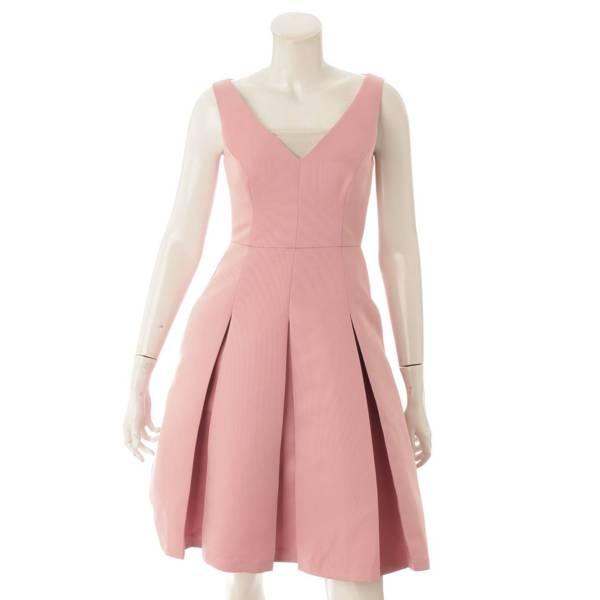 ノースリーブワンピース ドレス ピンク O