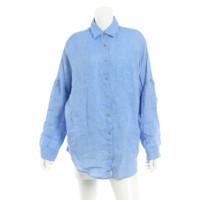 リネンシャツ ブラウス 3467031 ブルー