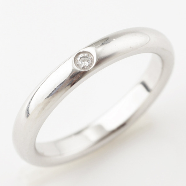 エルサ ペレッティ スタッキング バンドリング 1Pダイヤモンド 指輪 Pt950 9号