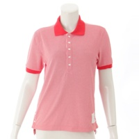 半袖 ポロシャツ ピンク レッド 0
