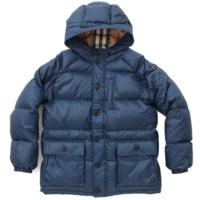 チルドレンズ ダウンコート ブルー 14Y 164cm