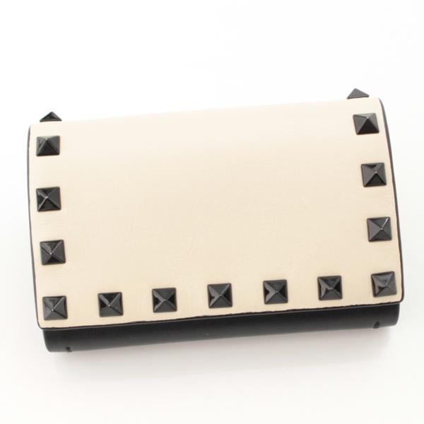 ロックスタッズ カードケース ブラック ホワイト