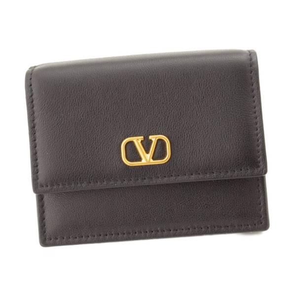 ガラヴァーニ レザー 二つ折り 財布 ブラック