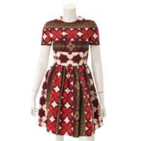 総柄 ワンピース ドレス マルチカラー 38