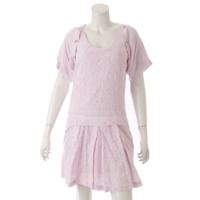 ヴェルサーチジーンズ 花柄 刺繍 ワンピース ピンク