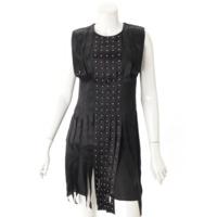 スタッズ ドレス ワンピース ブラック 38